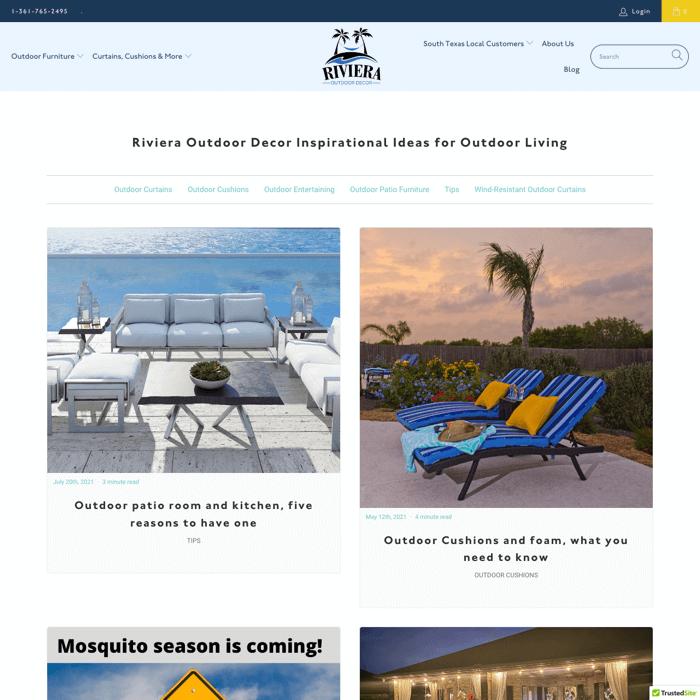 Riviera Outdoor Decor Blog