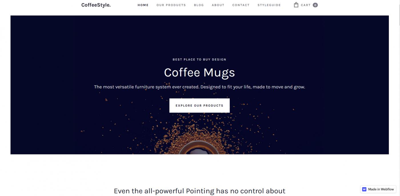 CoffeeStyle Webflow template