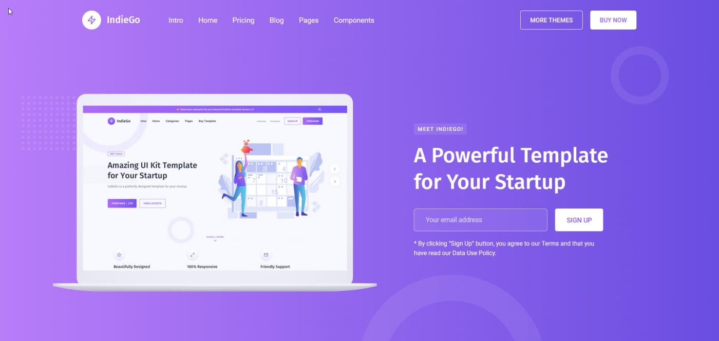 IndieGo Webflow template