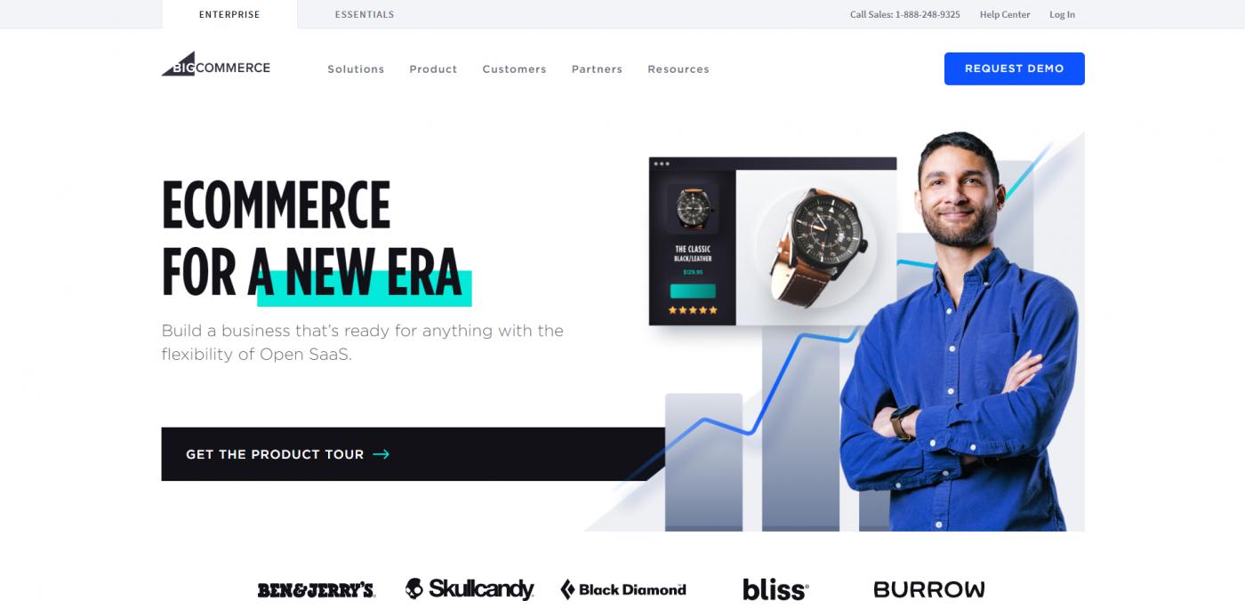 BigCommerce vs Magento - BigCommerce home page