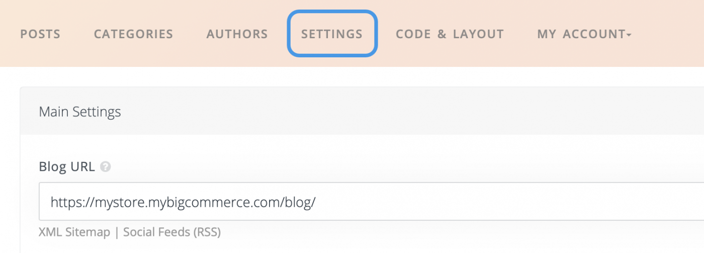 DropInBlog blog URL Settings