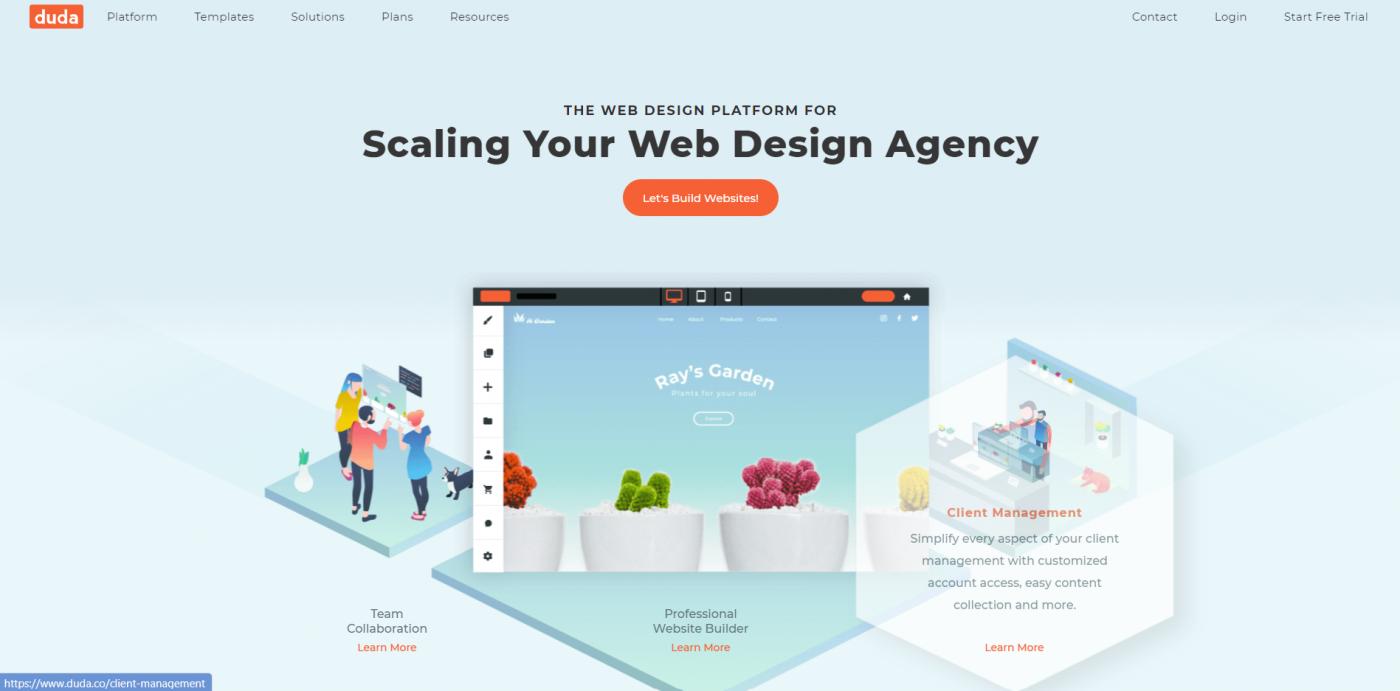 Duda home page