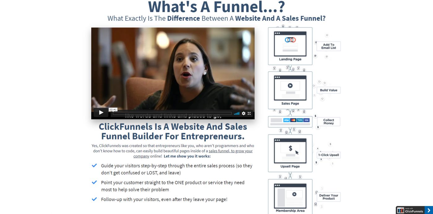 HighLevel vs ClickFunnels home page example