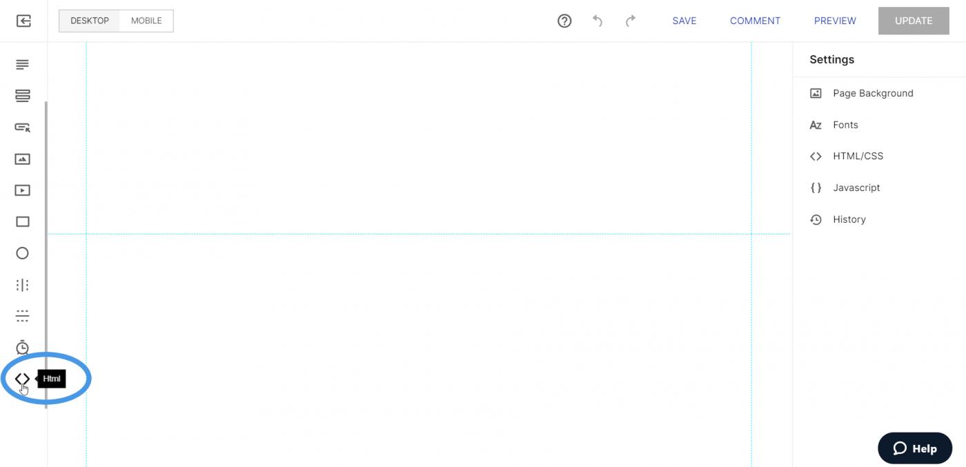 Add html Instapage