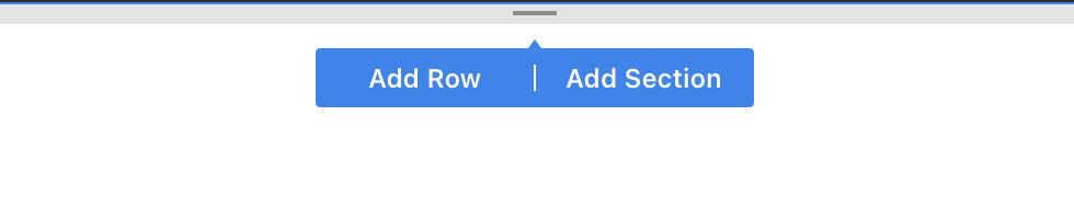 Adding a section or row UI in Swipe Pages
