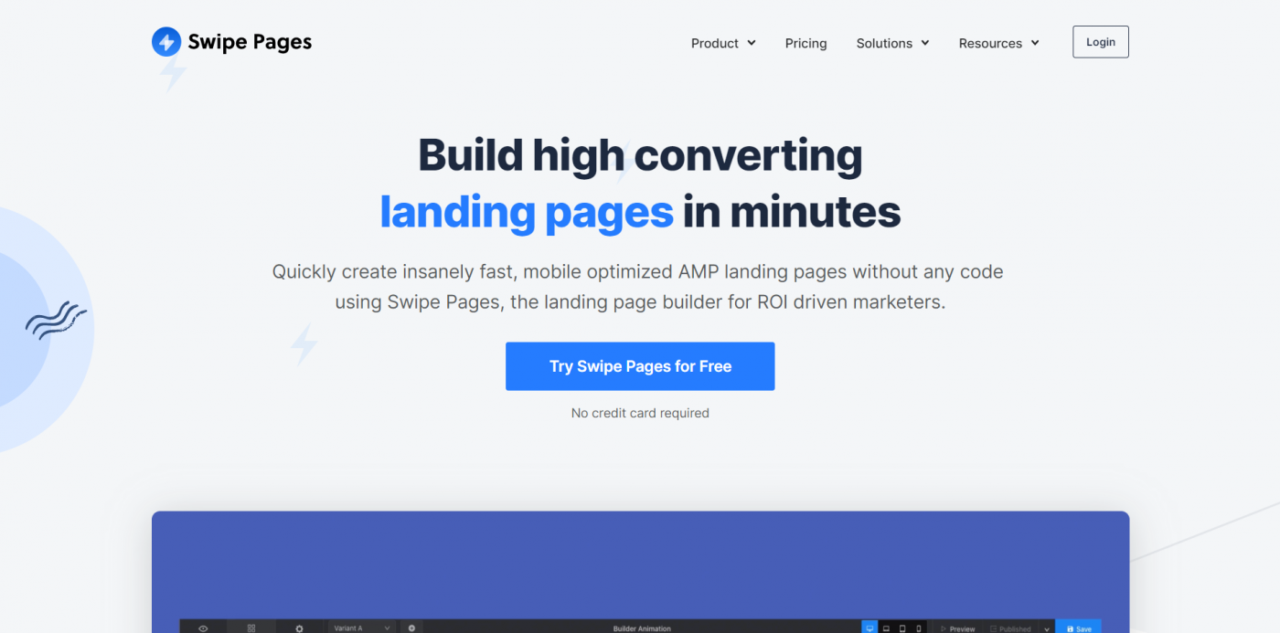 Swipe Pages home page