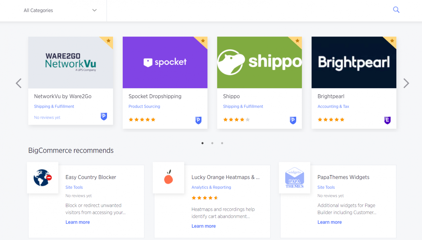 BigCommerce extensions
