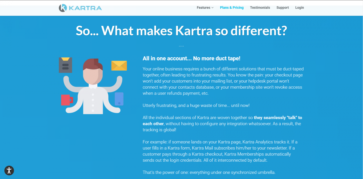 Kartra home page