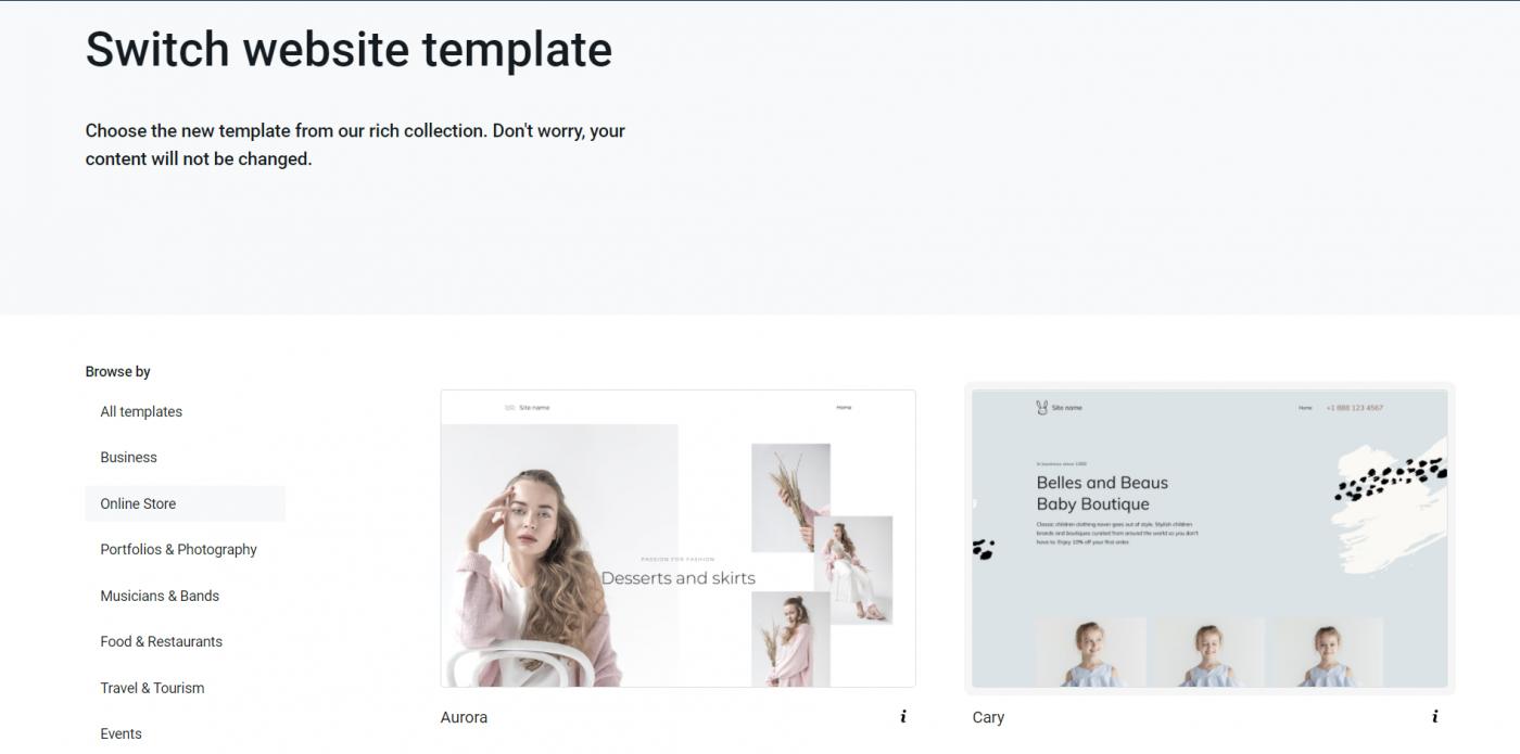 Yola templates themes