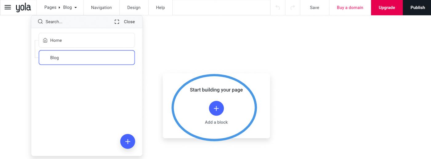 Yola build block page