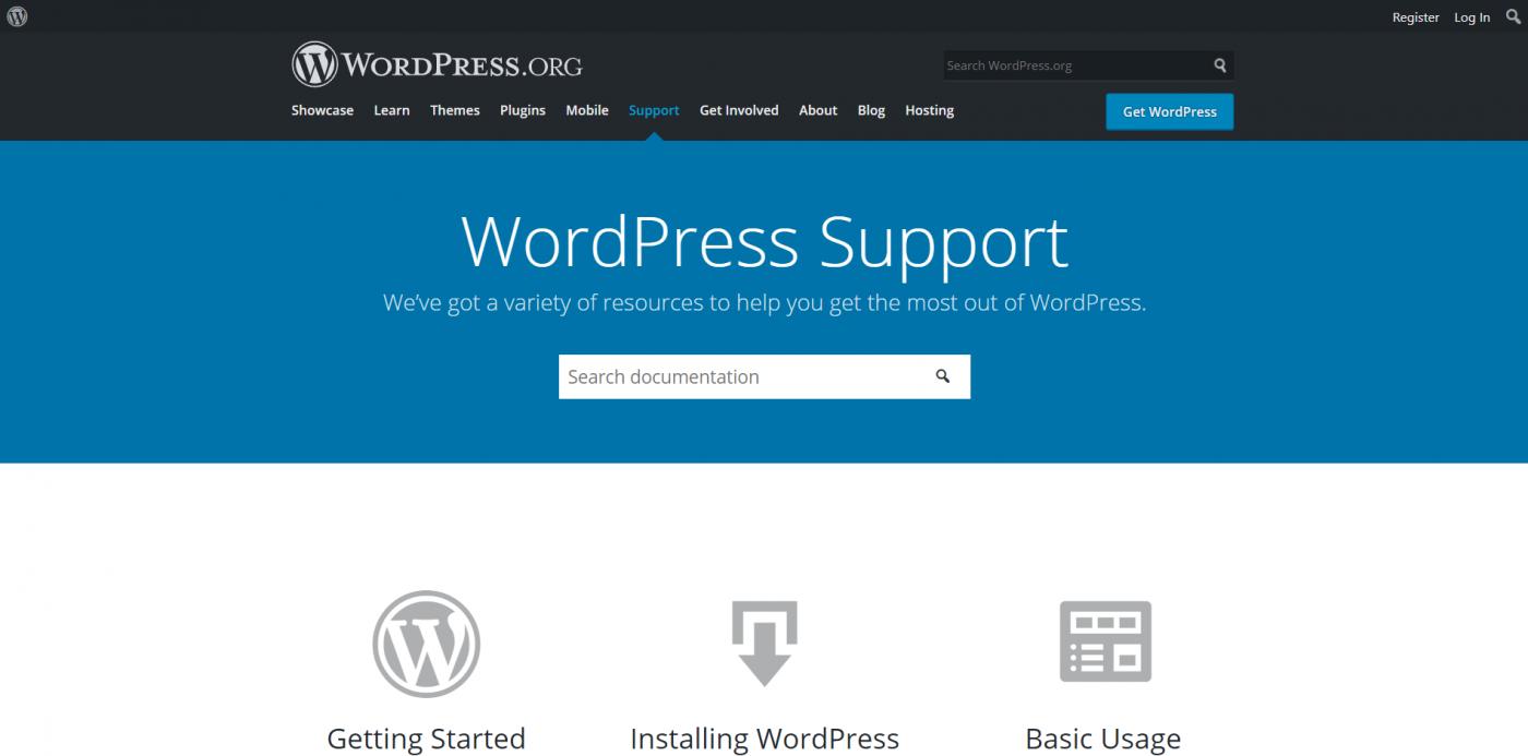WordPress suppoert