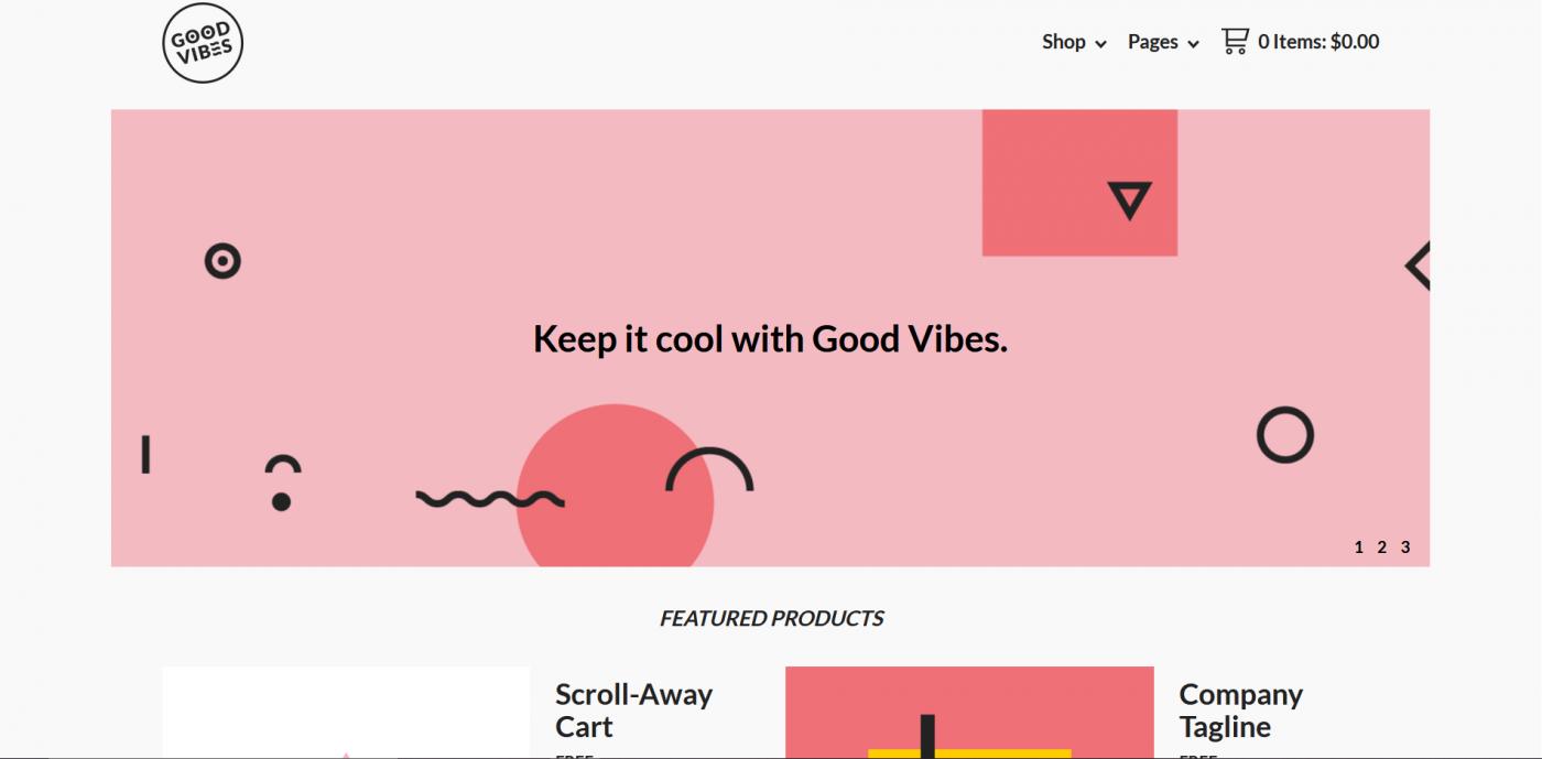 Big Cartel themes - Good Vibes
