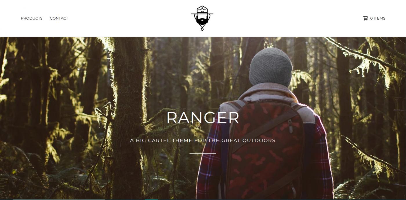 Big Cartel themes - Ranger