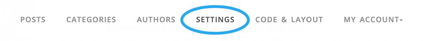 highlight to share settings DropInBlog