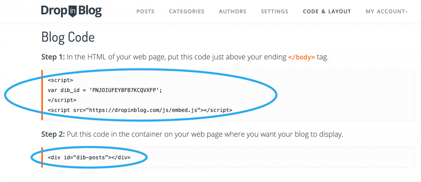 Copy code from Step 1 and Step 2