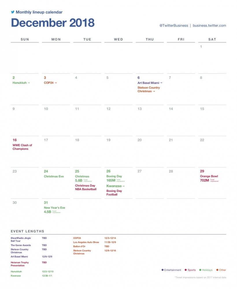 SocialOwl Twitter Calendar November 2018