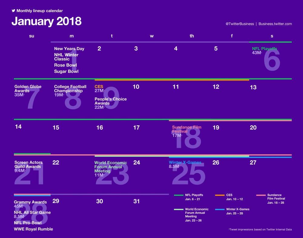 SocialOwl Twitter Calendar January 2019