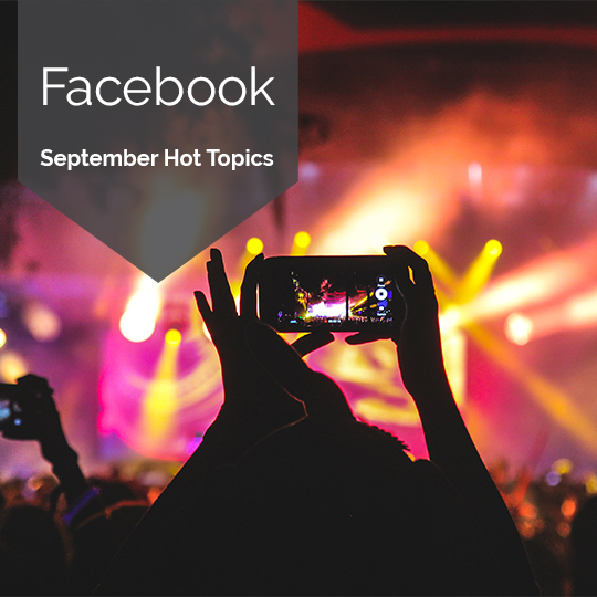 The Hottest Topics on Facebook and Instagram in September, 2017 [INFOGRAPHIC]