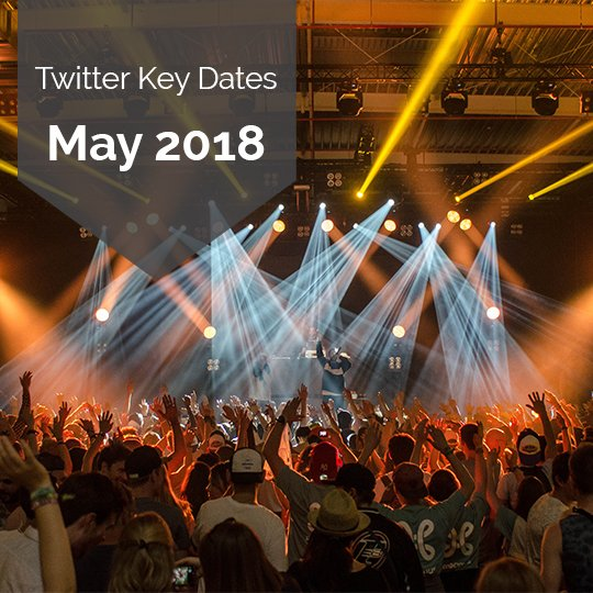 Key Dates for Marketing on Twitter in May 2018