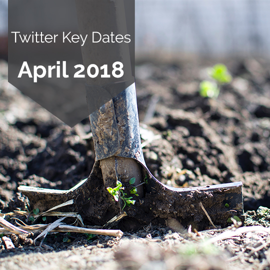Key Dates for Marketing on Twitter in April 2018