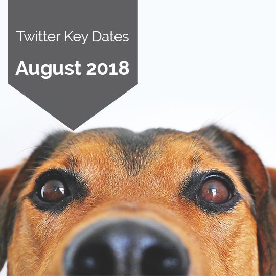 Key Dates for Marketing on Twitter in August 2018