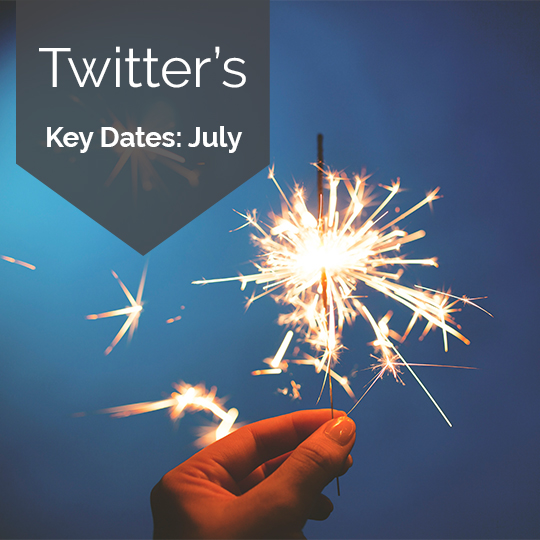 Twitter Key Dates for Marketing in July