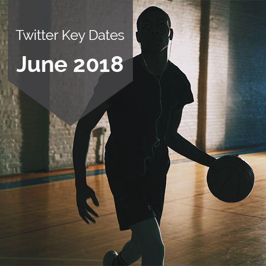 Key Dates for Marketing on Twitter in June 2018