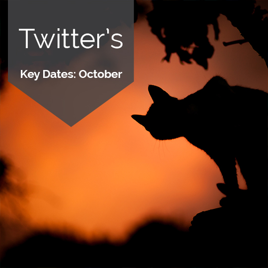 Key Dates for Marketing on Twitter in October