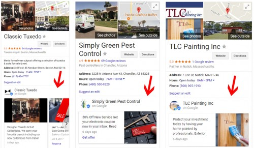 Creating free posts on Google My Business