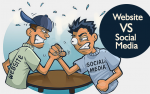 Website vs. Social Media   *   Website vs. Review Sites