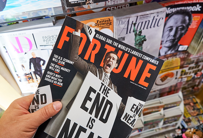 Fortune magazine at the newsstand