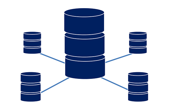 an abstract visual representation of an oltp database