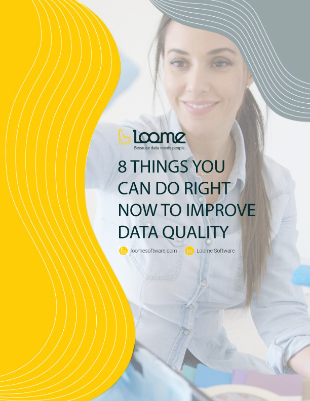 the front cover of an ebook with the title 8 things you can do right now to improve your data quality