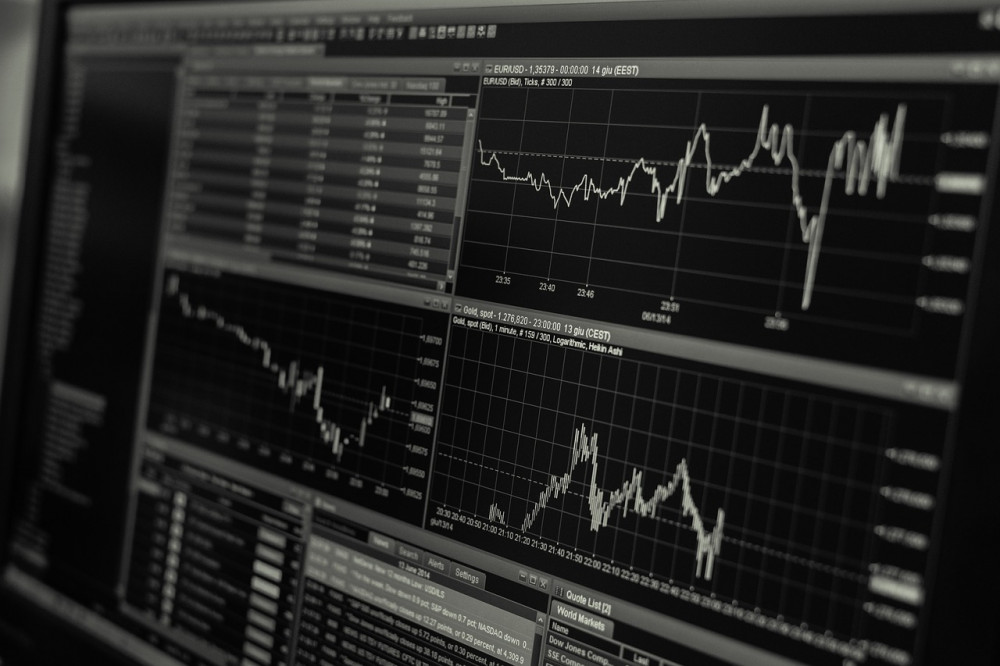 real-time streaming stock market data presented on a computer screen