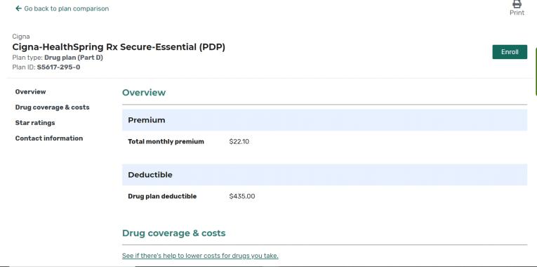 Medicare Plan Details