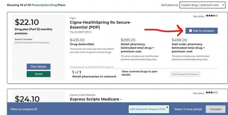 Medicare Plan Finder lowest drug costs