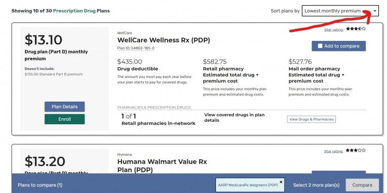 Medicare Plan Finder Results