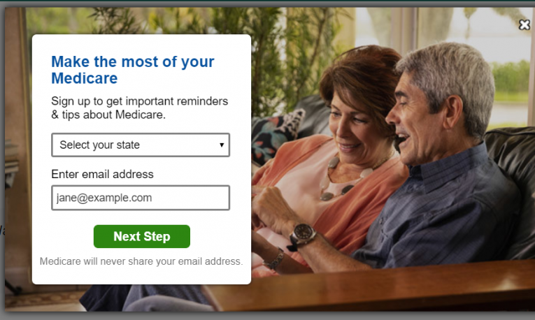 My Medicare don't sign up