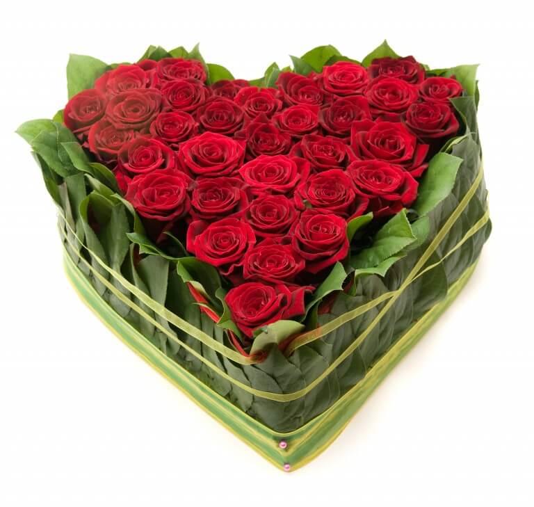 Send blomster til den du elsker på valentinsdagen