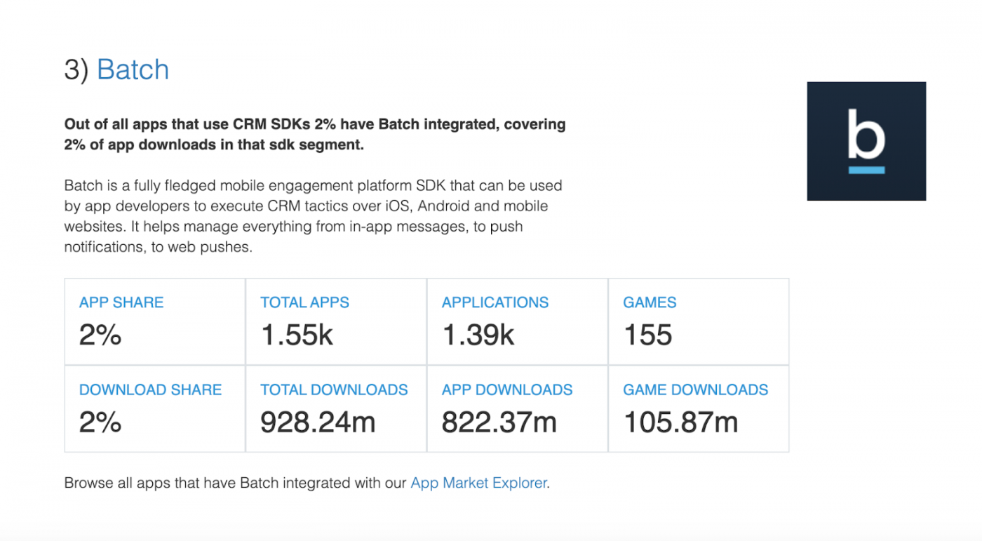 3 Top CRM SDKs — The State of the App Economy and App Markets in 2021)