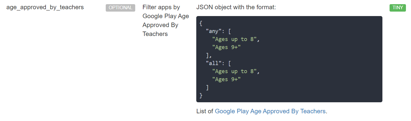 Approved by Teachers API