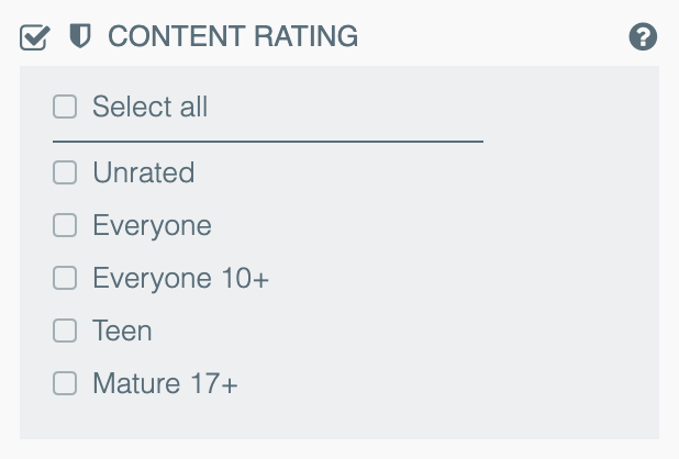 Content rating insights — 42matters Explorer