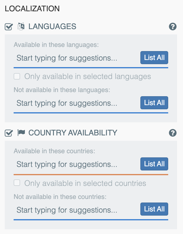 Localization Insights — 42matters Explorer