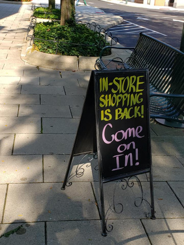 our retail shop is back open for in store shopping
