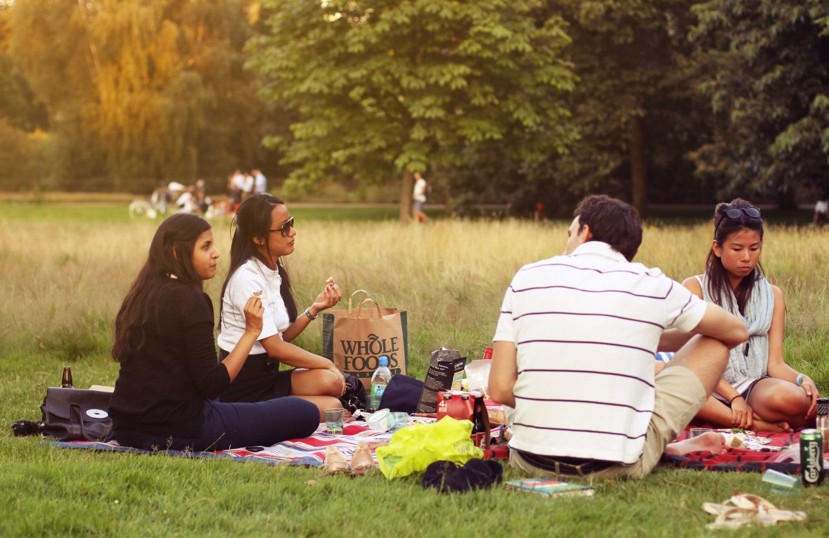 картинка пикник в парке время идет