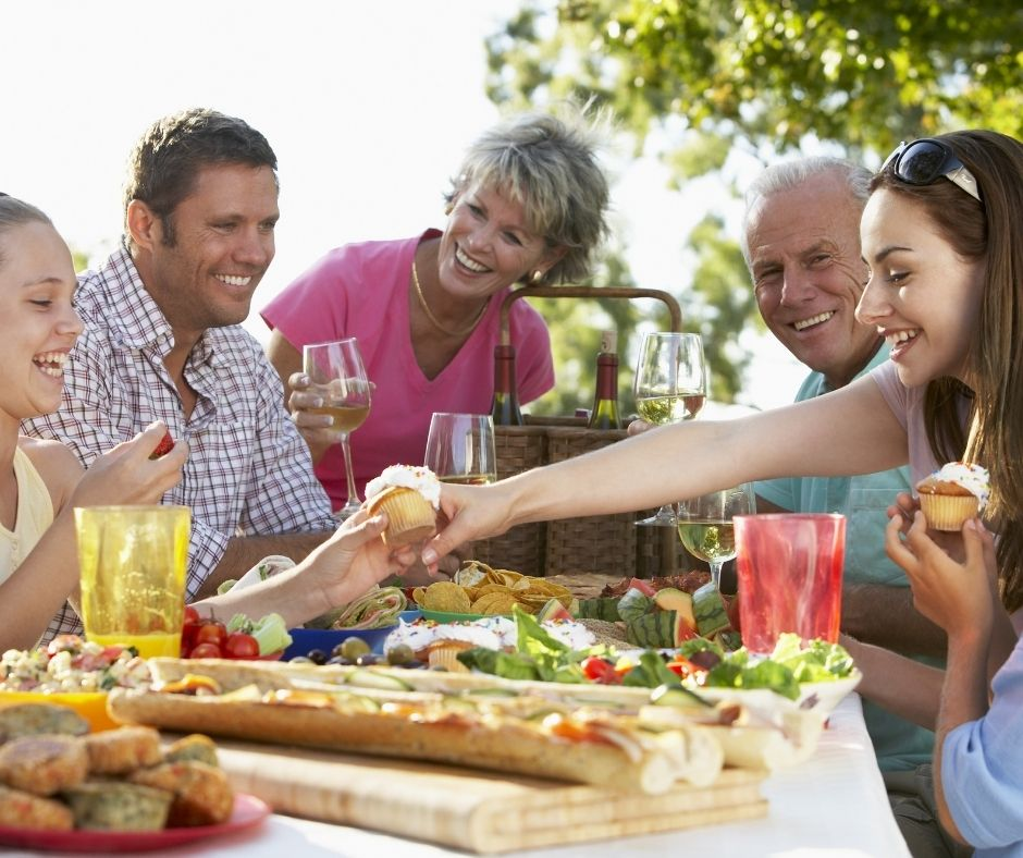Outdoor Entertainment with friends Barbecue and grilling