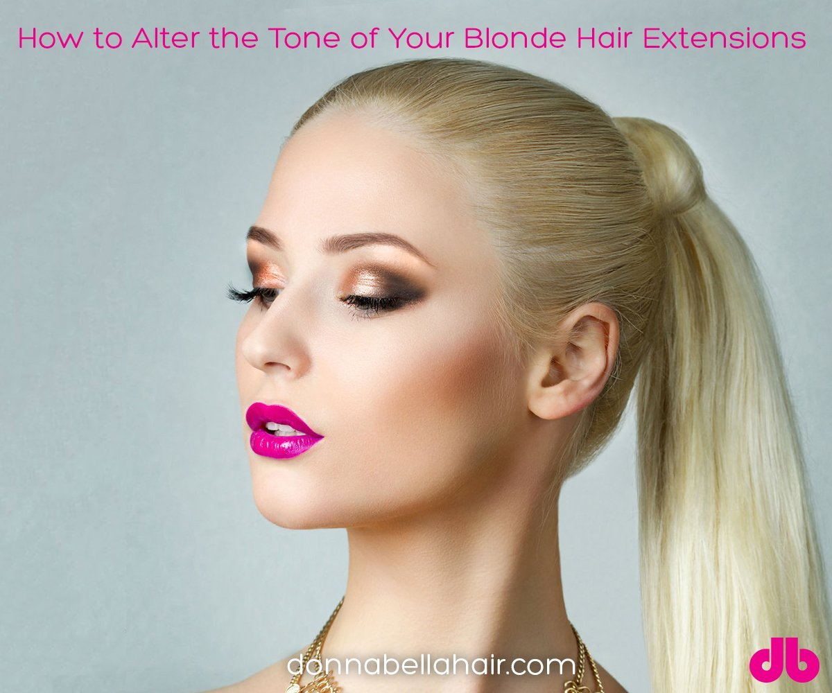 How to Alter the Tone of Your Blonde Hair Extensions
