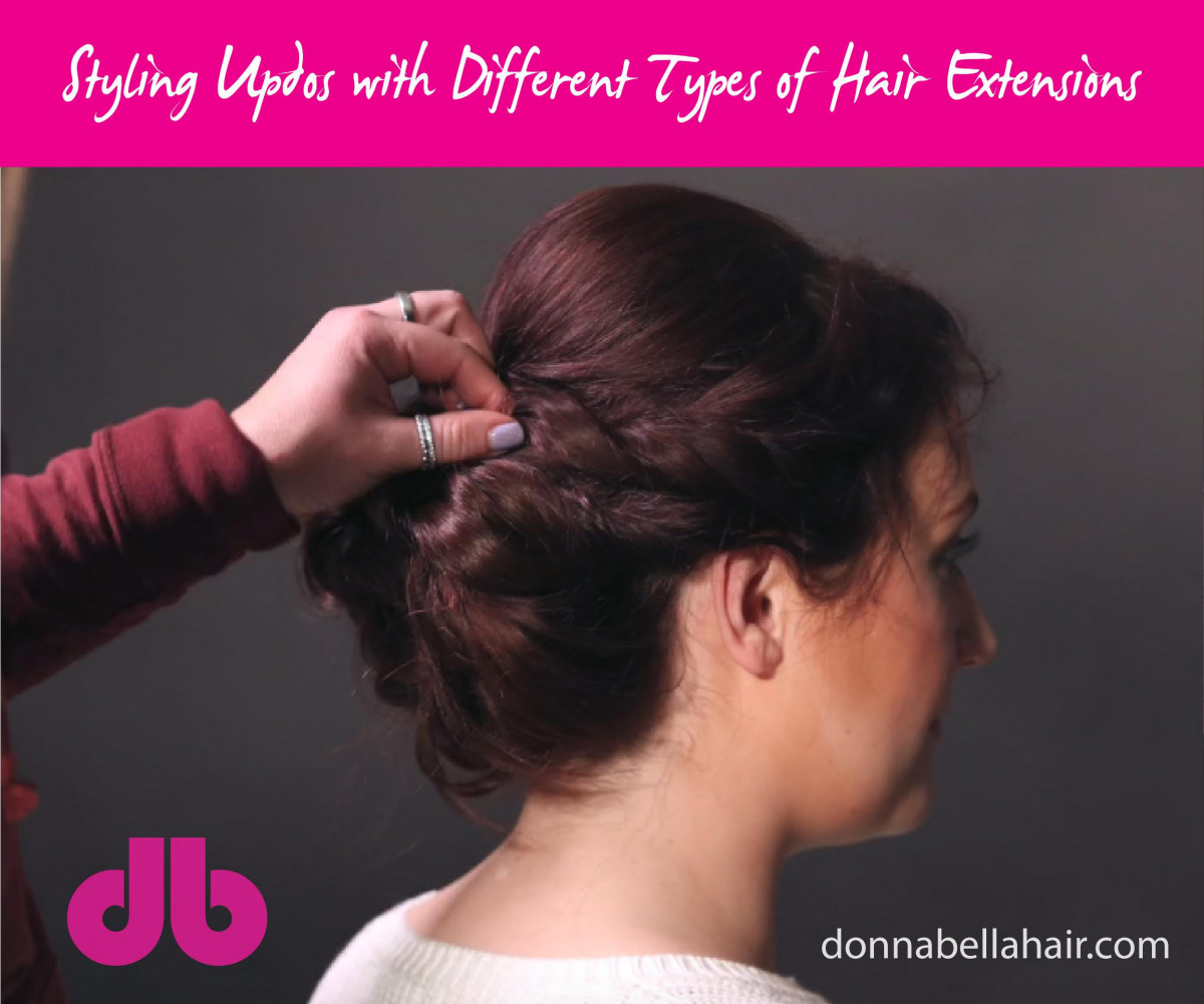 Styling Updos with Different Types of Hair Extensions
