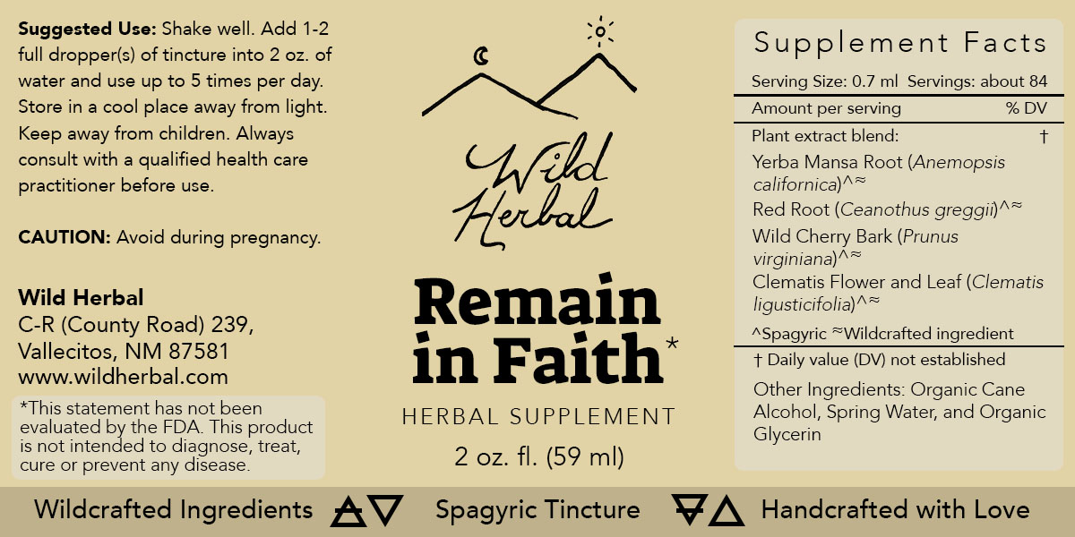 Remain in Faith Formula