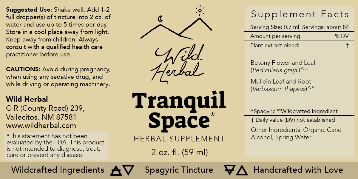 Tranquil Space Formula